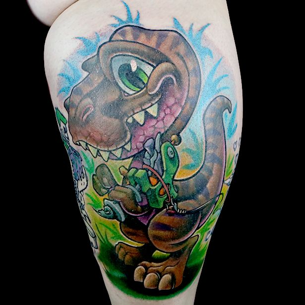 Elimination Tattoo: New School Dinosaurs - Ink Master | Paramount ...