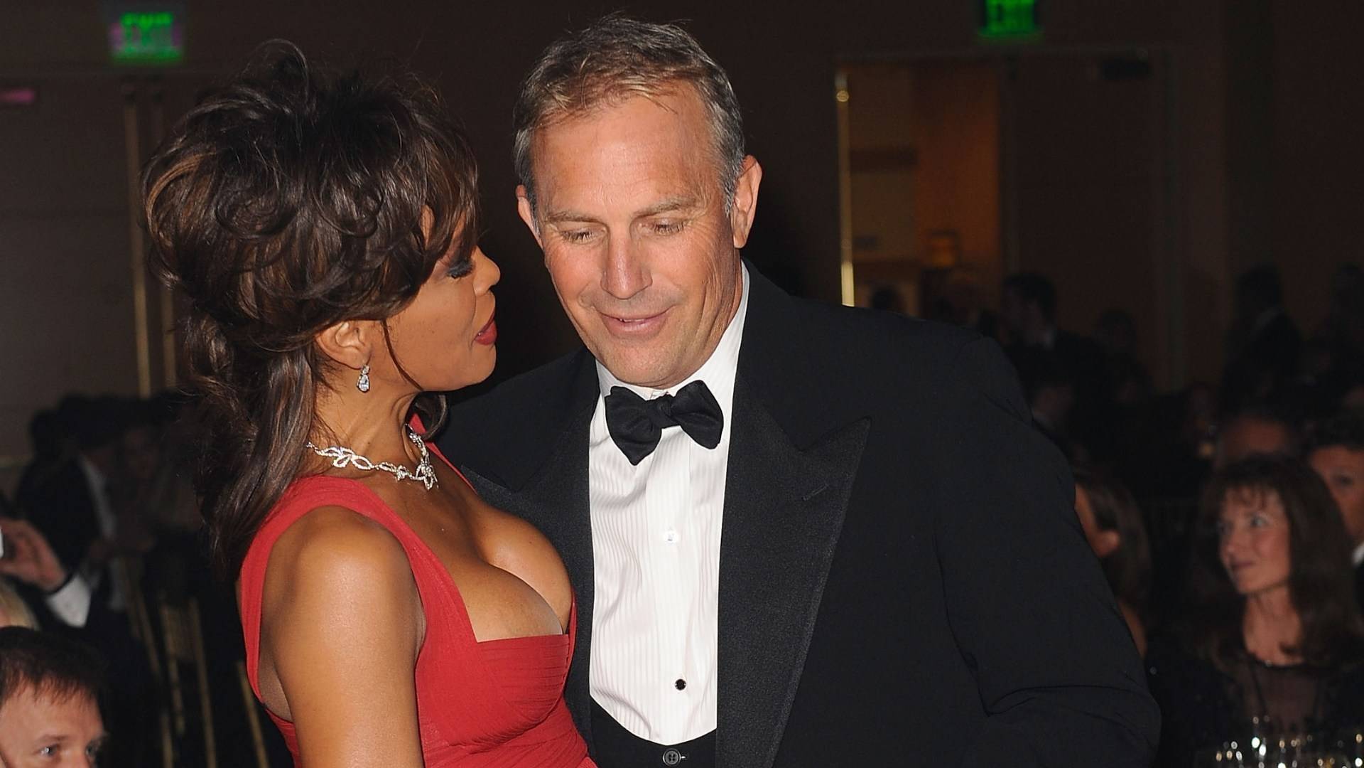 Whitney Houston e Kevin Costner (Guardia del corpo), foto: Getty Images